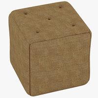 3d model pouf ottoman