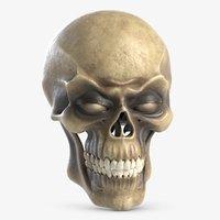 3d skull jaw teeths model
