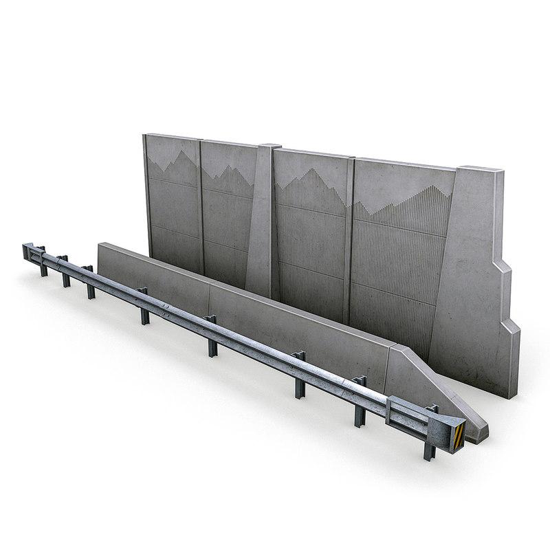 3D highway barriers