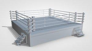 boxing ring 3d c4d