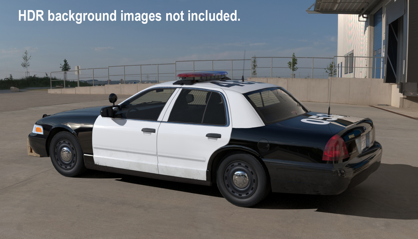 patrol car 3d model