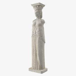 3d max column caryatids