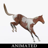 rigged jumping horse 3ds
