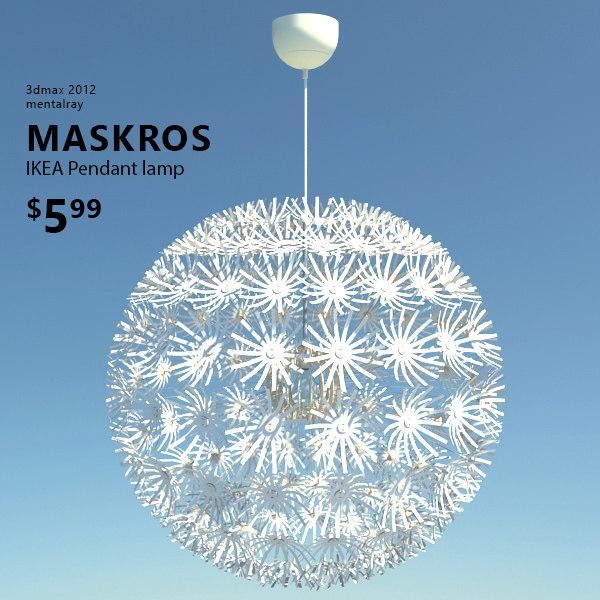 3d ikea maskros lamp light