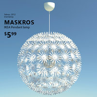3d ikea maskros lamp light