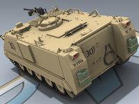 3d model of m113a2 apc