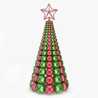 jingle bells christmas tree 3d model