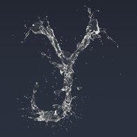3D letter splash
