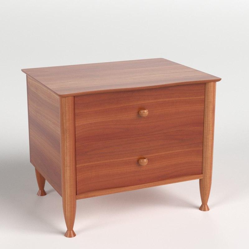 bedside table 4 3d model