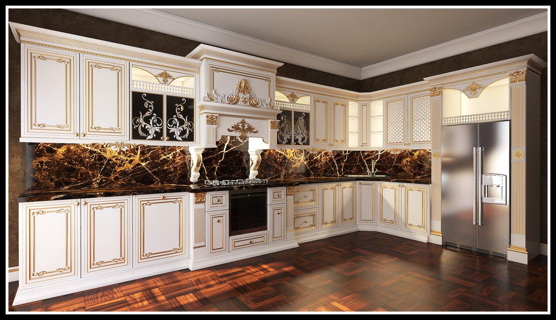 3D kitchen classic furniture varobski