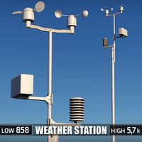 3d weather meteo station