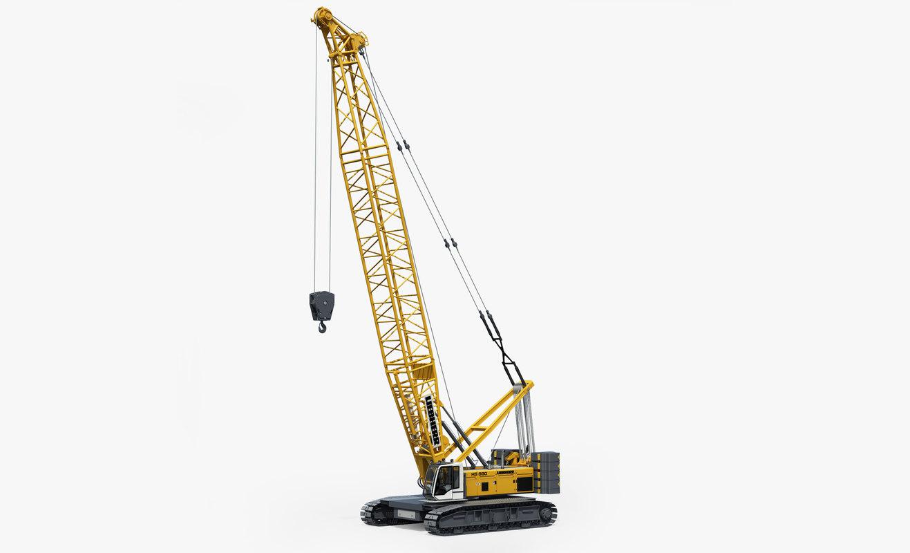 Crawler Crane LIEBHERR HS Rigged