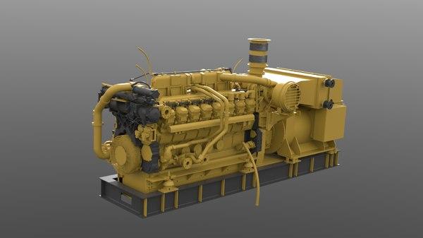 3d model of diesel engine