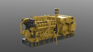 3d model of diesel engine
