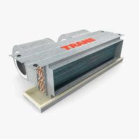 fan coil trane 3d model