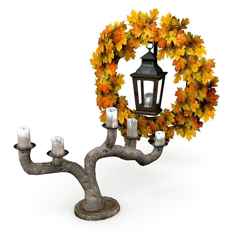 halloween decorations 3d model