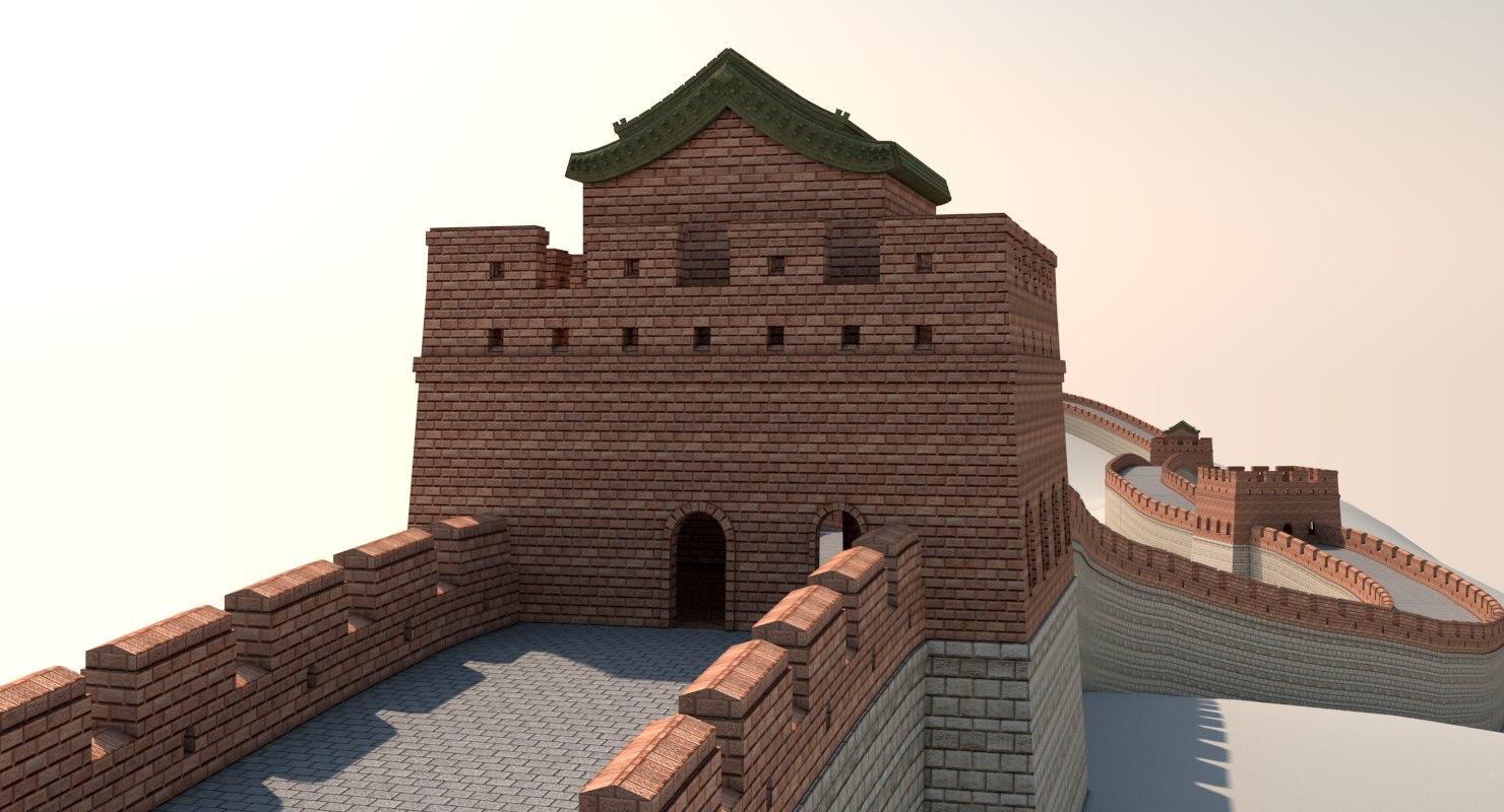 3d great wall china