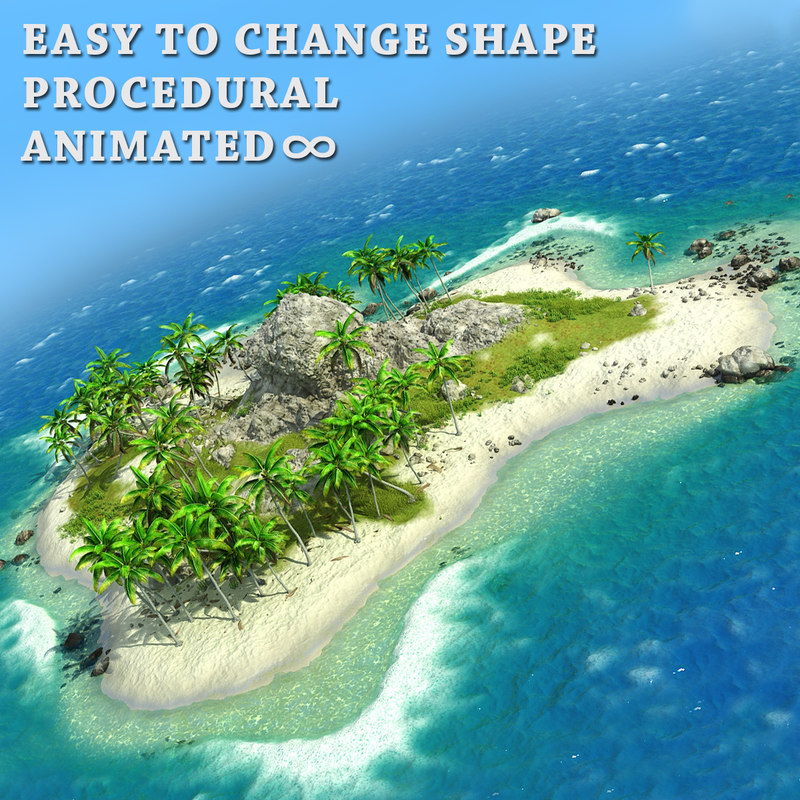 island pflow palms 3d model