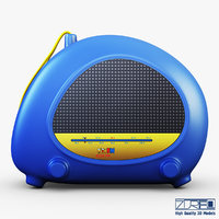 3d model kids radio toy