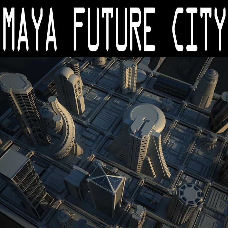 futuristic road v-ray 3d max