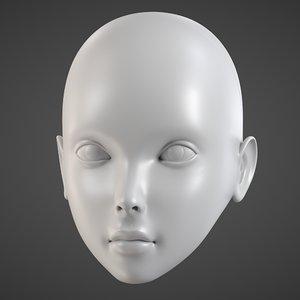 doll head - print obj
