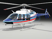 3d bell 407 helicopter