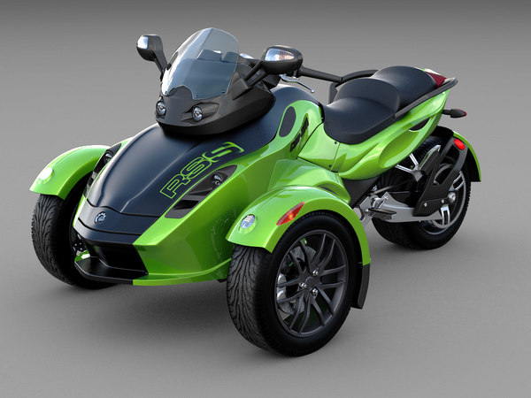 3d 2012 can-am spyder rs-s