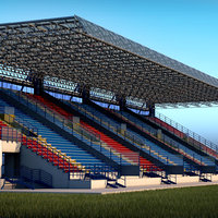 Stadium Tribune High detail