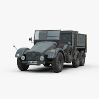 ww2 german kfz 70 3d 3ds