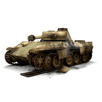 ww2 german sdkfz panther panzer max