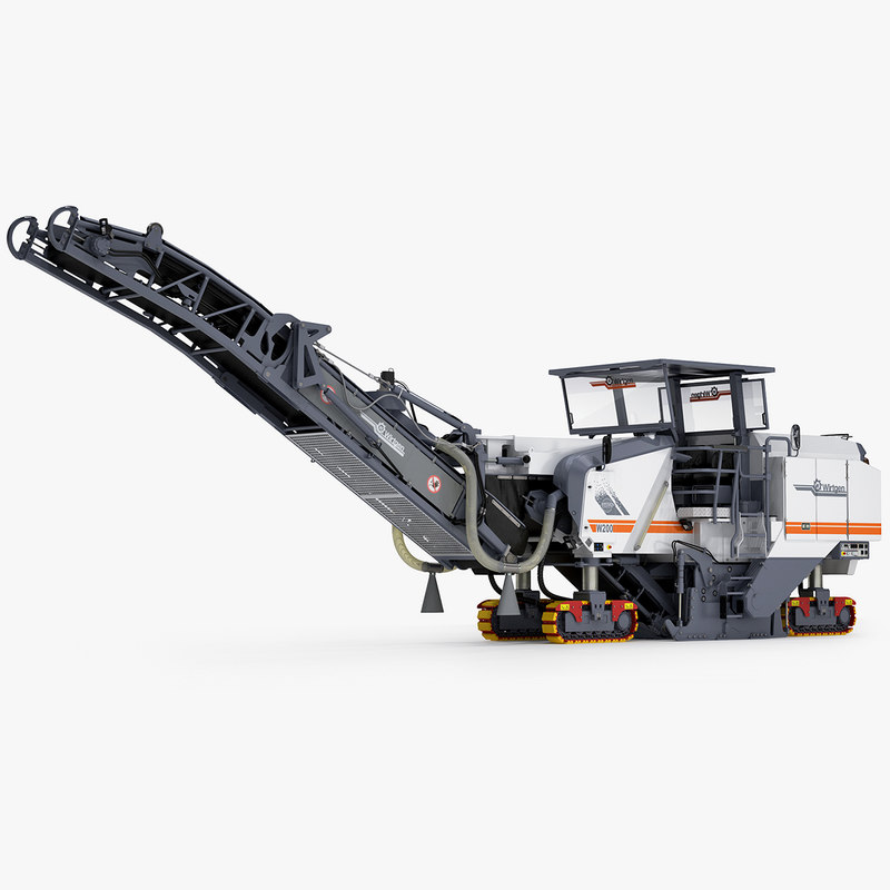 large milling machine wirtgen 3d c4d