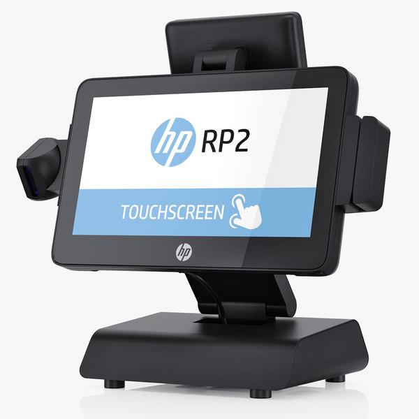 hp rp2 retail 3D model