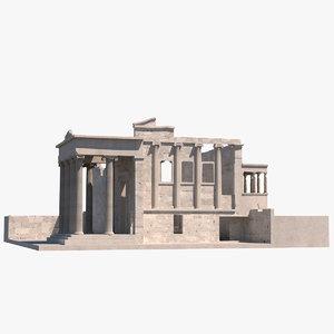erechtheion greek temple 3d model