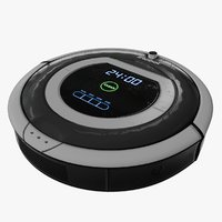 Roomba iBot Vacuum Cleaner Low Poly