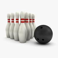 bowling skittles 3d model