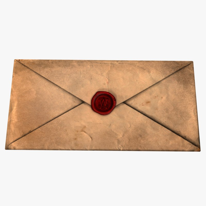 ready antique envelope wax 3D model