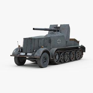 ww2 german flak 18 3d max