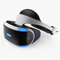 3d sony playstation vr headset