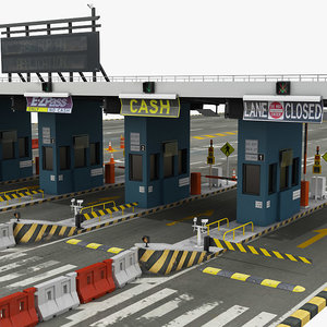 nyc toll booth 3D model