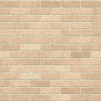Calais cream clay brick wall seamless texture, computer generated background.