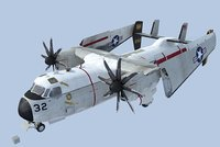 c-2a greyhound 3d model