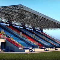 Stadium Sport Soccer Tribune High detail