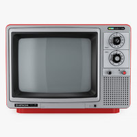 retro tv hitachi kidocolor 3D model