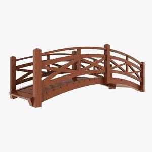 3d obj wooden bridge wood