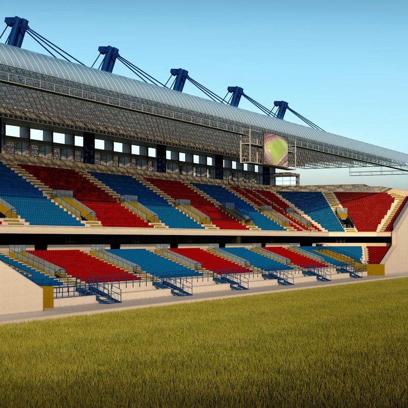 3d stadium seating tribune wide