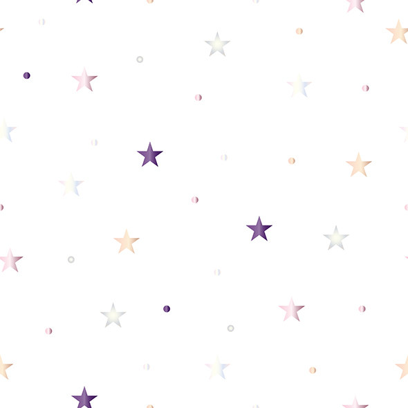 seamless pattern with stars and polka dots in pastel colors