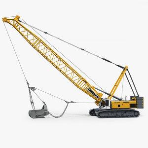 liebherr hs dragline excavator 3D model