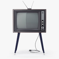 retro tv sharp ier-c7 3D