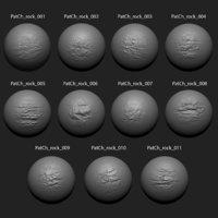 Zbrush Alpha Pack Rock Set1 for Free