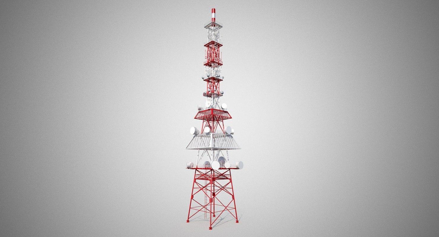 communication tower 3d model